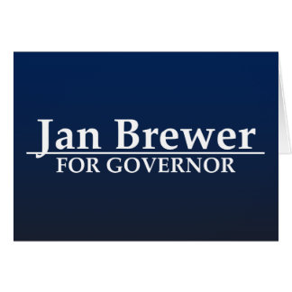 Jan Brewer for Governor Card