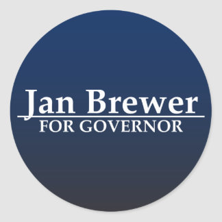 Jan Brewer for Governor Classic Round Sticker