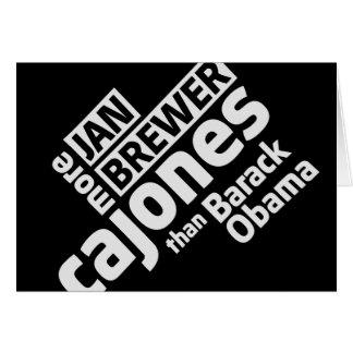 Jan Brewer More Cajones Than Barack Obama Card