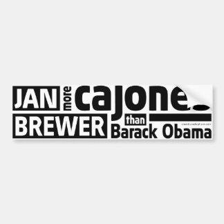 Jan Brewer More Cajones Than Obama Bumper Sticker