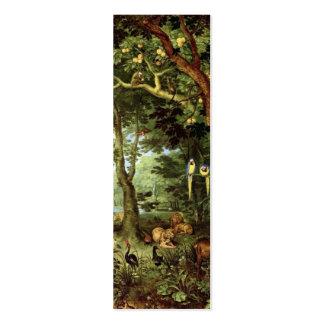 Jan Bruegel the Elder - Paradise Double-Sided Mini Business Cards (Pack Of 20)