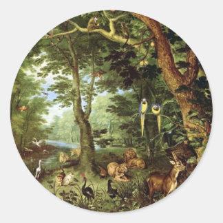 Jan Bruegel the Elder - Paradise Stickers