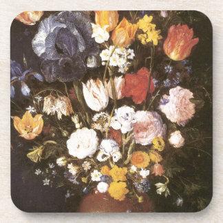 Jan Brueghel el florero más viejo de flores Posavasos
