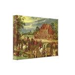 Jan Brueghel la anciano - Dorfstrasse Impresión En Lienzo Estirada