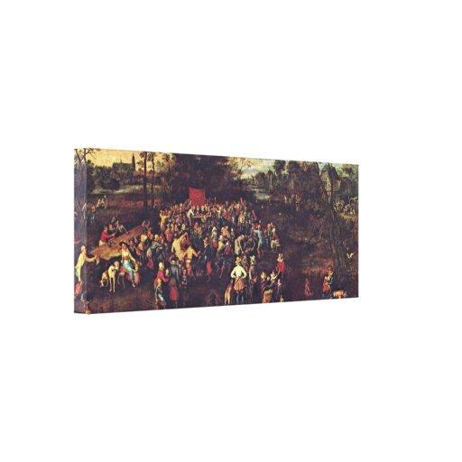 Jan Brueghel la anciano - el banquete del boda Impresiones En Lona