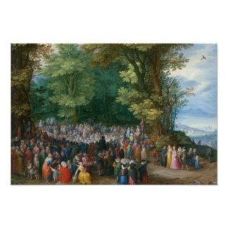 Jan Brueghel la anciano - el sermón de la montaña Fotografías