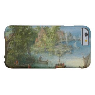 Jan Brueghel la anciano - paisaje del río Funda Barely There iPhone 6