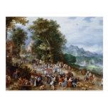 Jan Brueghel the Elder - Flemish Fair Postcard