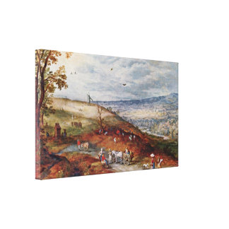 Jan Brueghel the Elder - Landscape with Windmill Gallery Wrapped Canvas