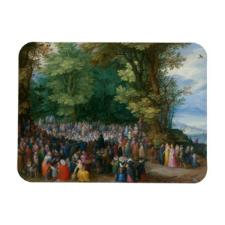 Jan Brueghel the Elder - The Sermon on the Mount Rectangular Photo Magnet