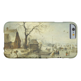 Jan Brueghel the Younger - Villagers on the Ice Barely There iPhone 6 Case