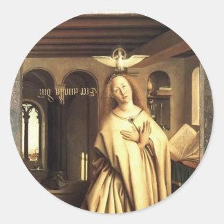 Jan Eyck- Virgin Annunciate Classic Round Sticker