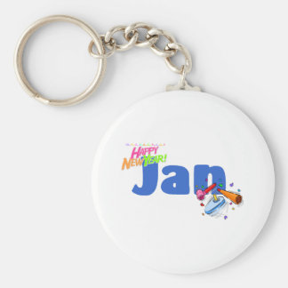 Jan (Happy New Year) Keychain