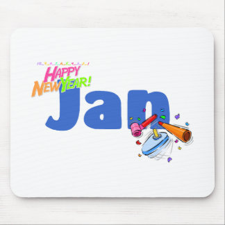 Jan (Happy New Year) Mousepads