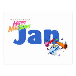 Jan (Happy New Year) Postcard