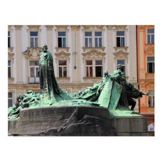 Jan Hus Memorial Postcard
