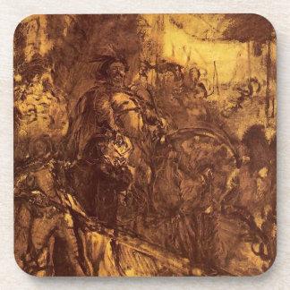 Jan III at Vienna by Jan Matejko Drink Coaster