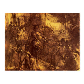 Jan III at Vienna by Jan Matejko Postcard