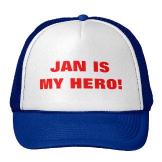 JAN IS MY HERO MESH HAT