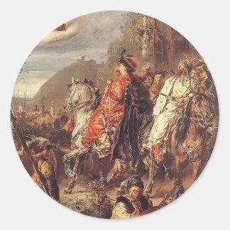 Jan Matejko- BohdanKhmelnytskywithTugaiBey Round Sticker