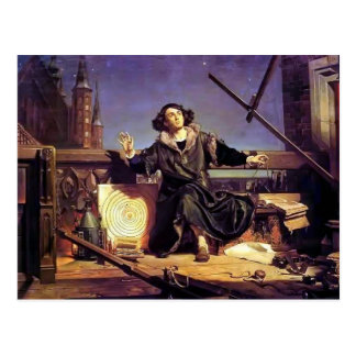 Jan Matejko- Copernicus in the tower at Frombork Postcard