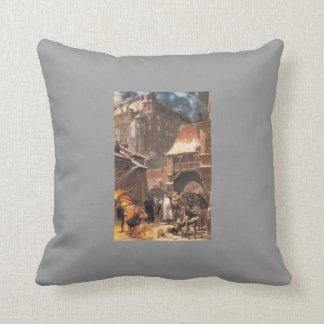 Jan Matejko: Gamrat and Stanczyk Throw Pillow