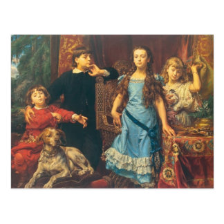 Jan Matejko:Portrait of the artist`s four children Postcard
