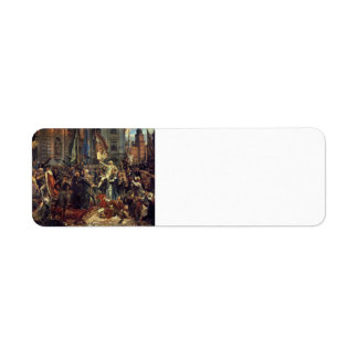 Jan Matejko- The Constitution of the 3rd May 1791 Custom Return Address Label