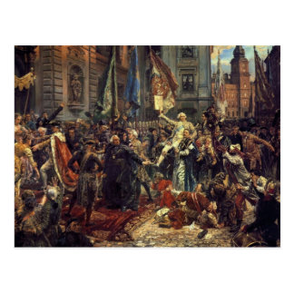 Jan Matejko- The Constitution of the 3rd May 1791 Postcard
