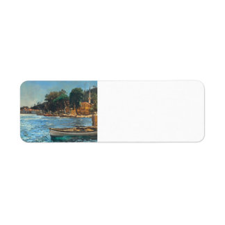 Jan Matejko- View of Bebek near Constantinople Custom Return Address Label
