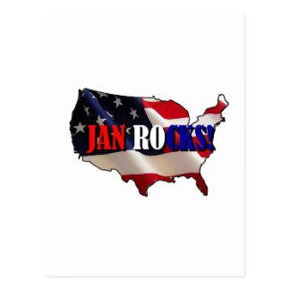 JAN ROCKS POSTCARD