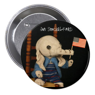 Jan Shackelford Elephant Button