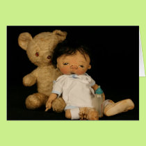 Jan Shackelford NEW BABY Greeting Card
