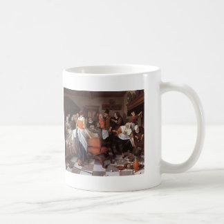 Jan Steen- Celebrating the Birth Coffee Mugs