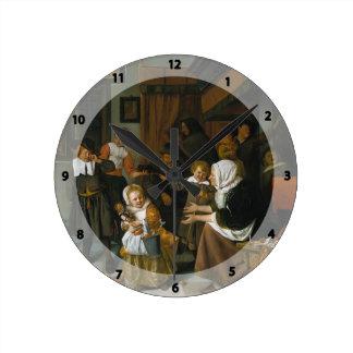 Jan Steen- Feast of St. Nicholas Clocks