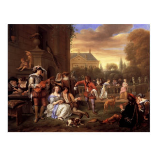Jan Steen- Garden Party Postcard