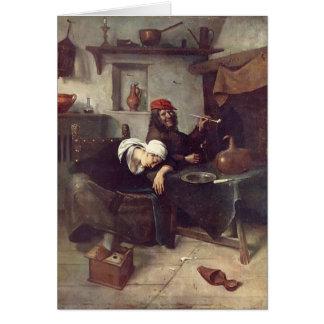 Jan Steen- Idlers Greeting Card