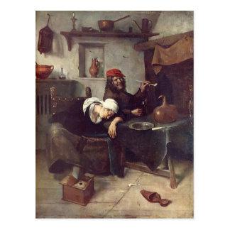 Jan Steen- Idlers Postcard