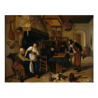 Jan Steen- In the Tavern Postcard