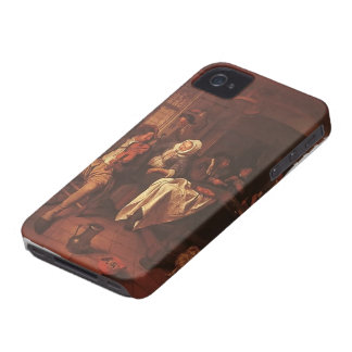 Jan Steen: Inn with Violinist & Card Players Case-Mate iPhone 4 Case
