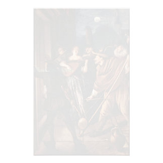 Jan Steen- Nocturnal Serenade Customized Stationery