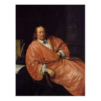 Jan Steen- Portrait of Gerrit Gerritsz Schouten Postcard