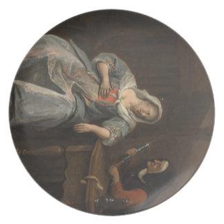 Jan Steen- Sick woman Dinner Plate