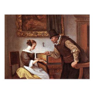 Jan Steen - The Harpsichord Lesson Postcard