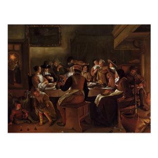 Jan Steen- Twelfth Night Postcard