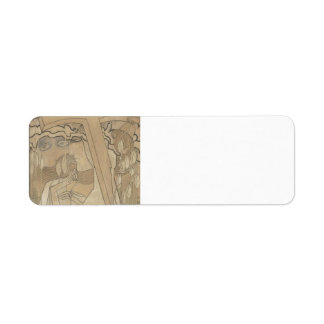 Jan Toorop- The Desire and the Satisfaction Custom Return Address Labels
