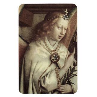 Jan van Eyck Angel, Genter Altar Fine Vintage Rectangular Magnet