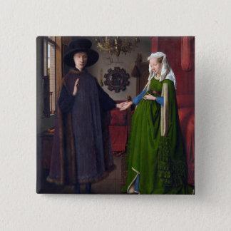 JAN VAN EYCK- Arnolfini Portrait 1434 Pinback Button