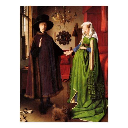 Jan Van Eyck Arnolfini Wedding Portrait Postcard