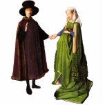 """Jan Van Eyck Arnolfini Wedding Portrait Sculpture<br><div class=""""desc"""">A stand-up cutout of Jan Van Eyck&#39;s famous Arnolfini Wedding Portrait.</div>"""